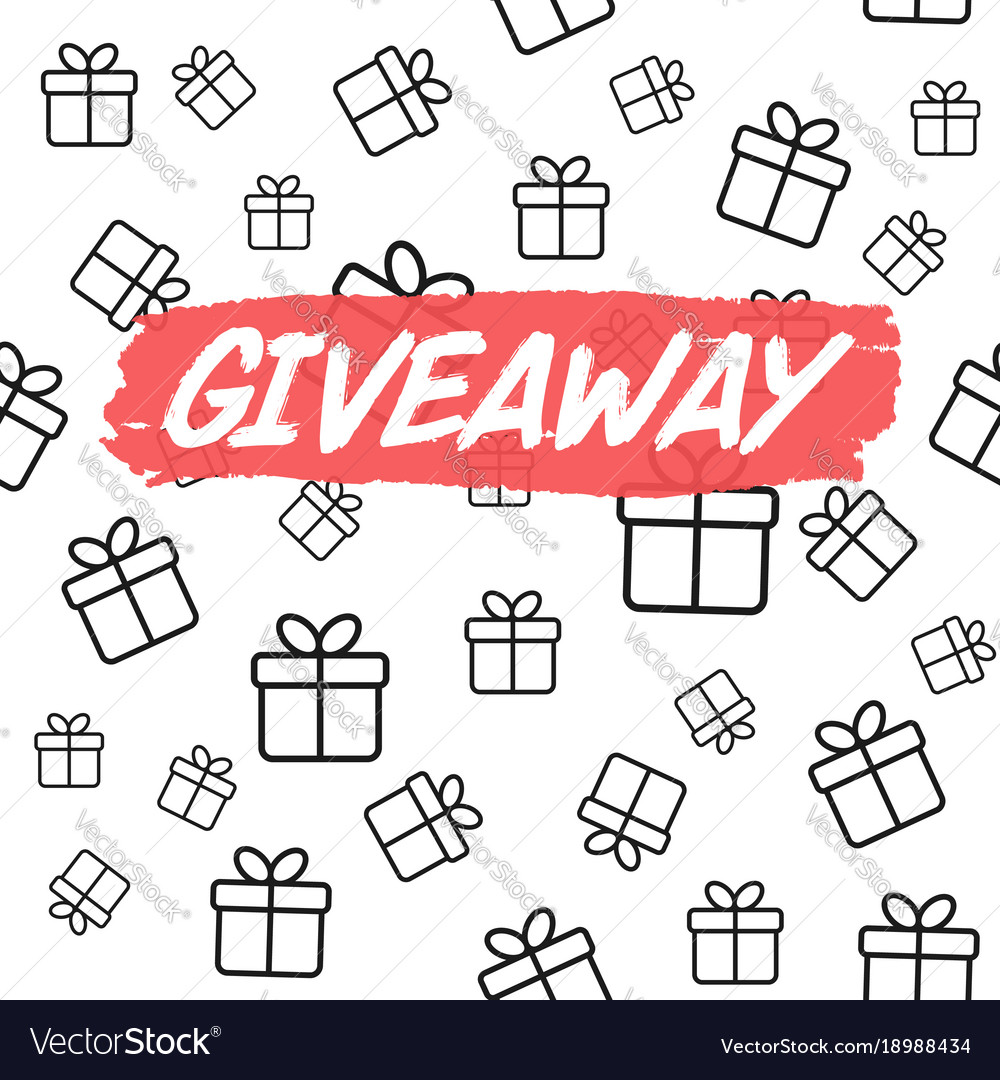 giveaway card template for blogs royalty free vector image