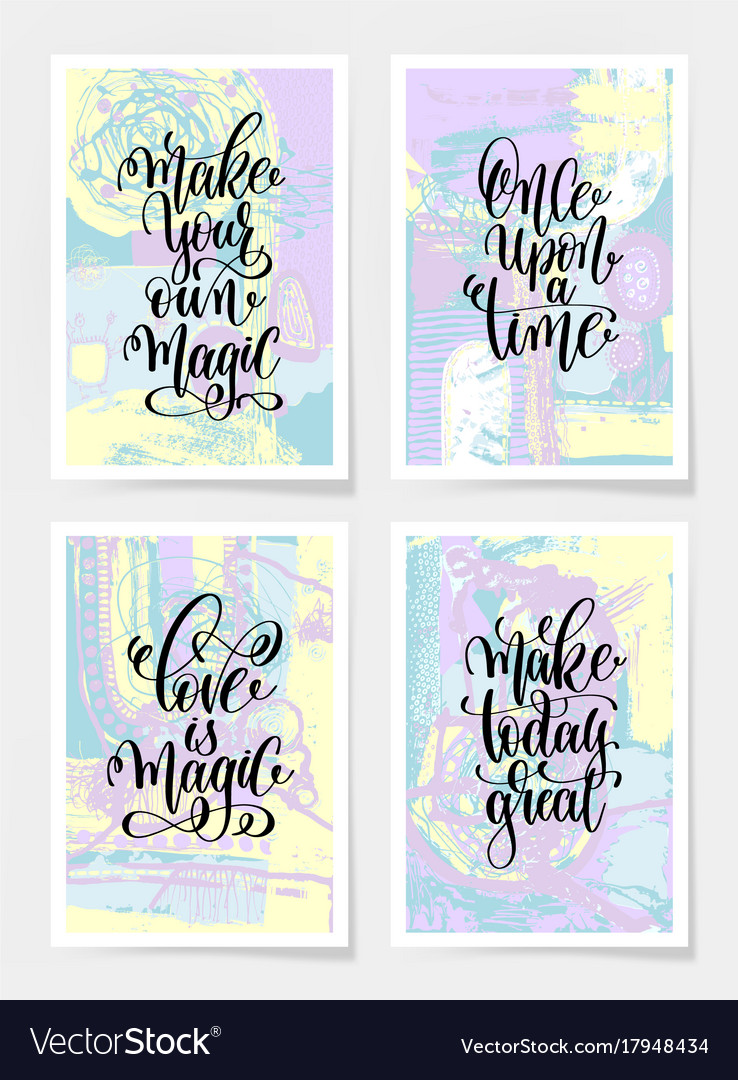 Make your own magic once upon a time love is vector image