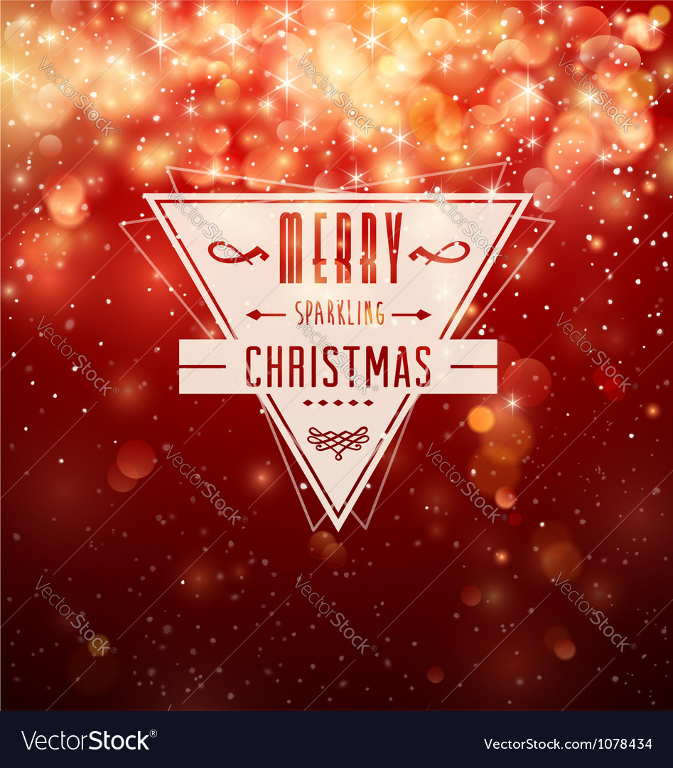 Merry Sparkling Christmas vector image