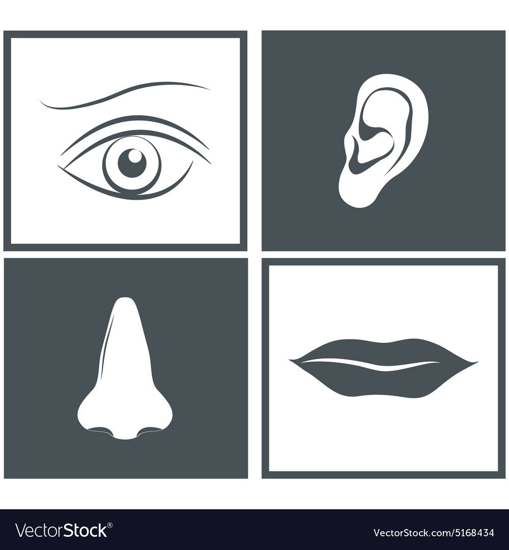 Nose eye mouth and ear pictograms
