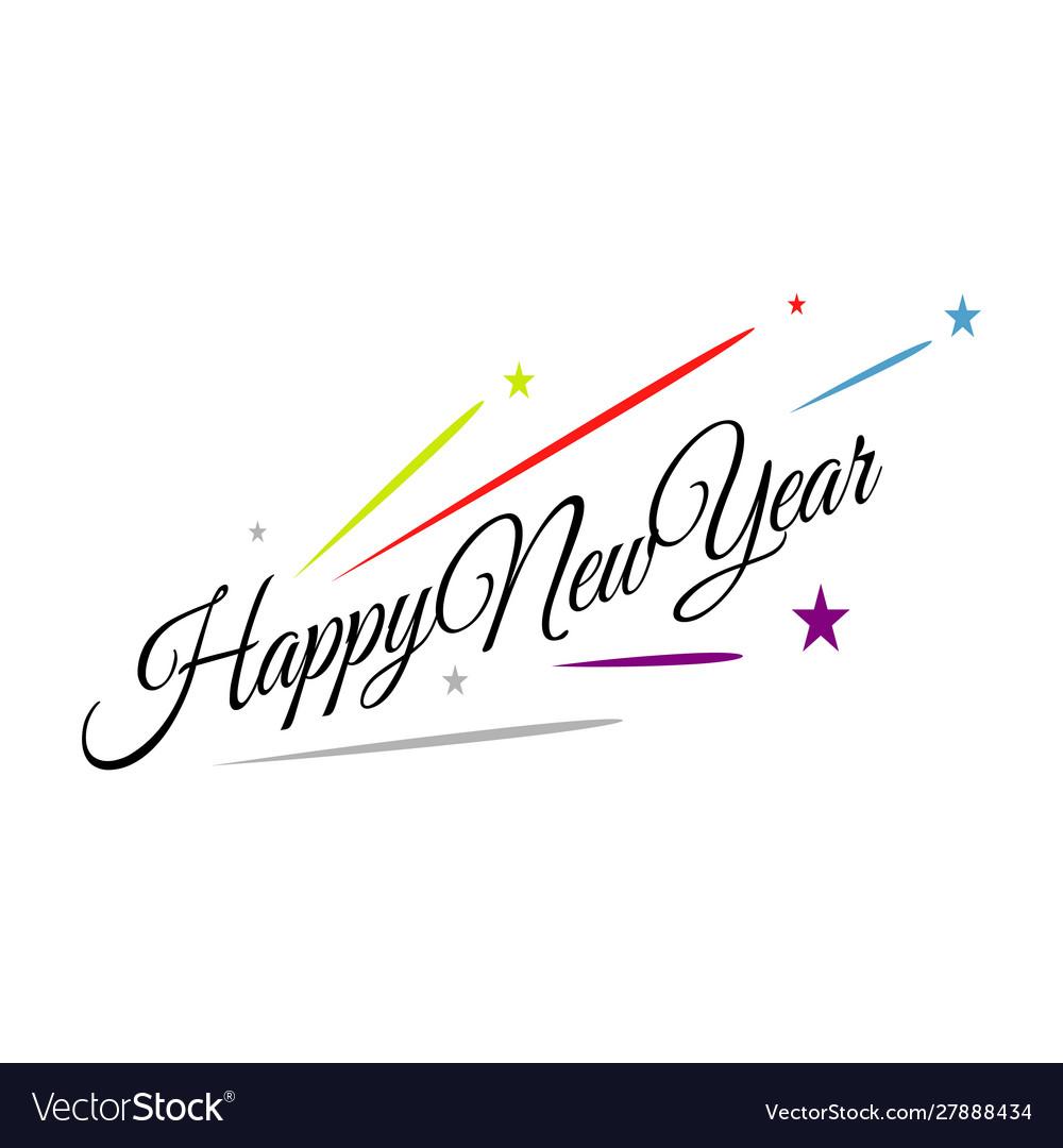 Splashing firework new year 2020 celebrations