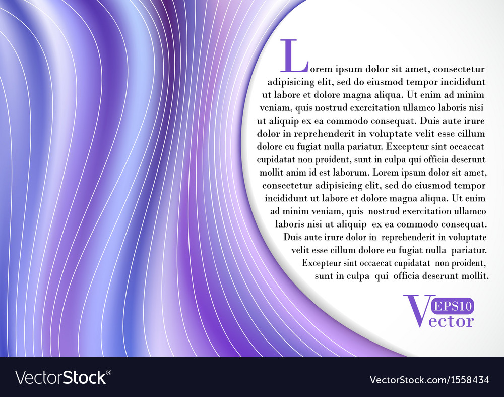 Violet Curtain vector image