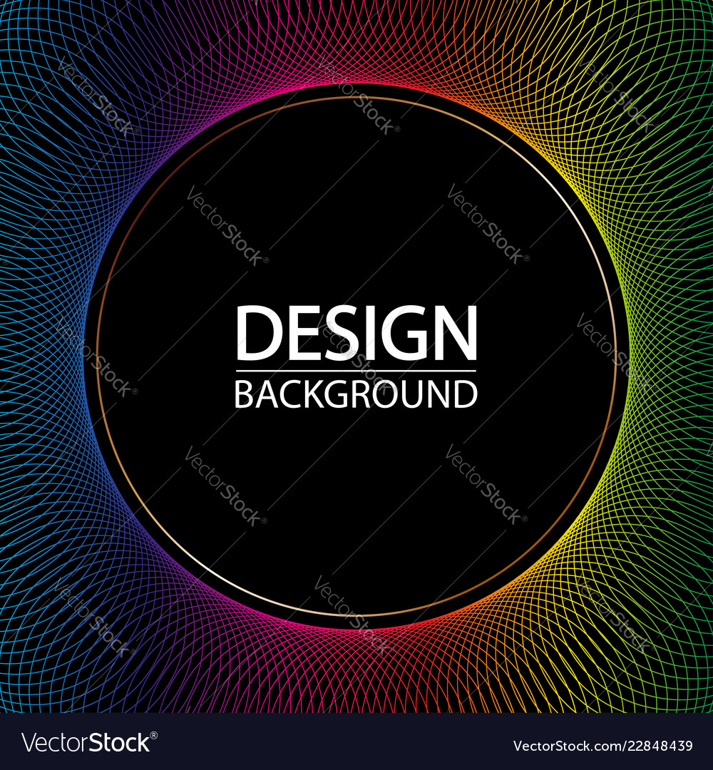 Abstract geometric background with dynamic circles