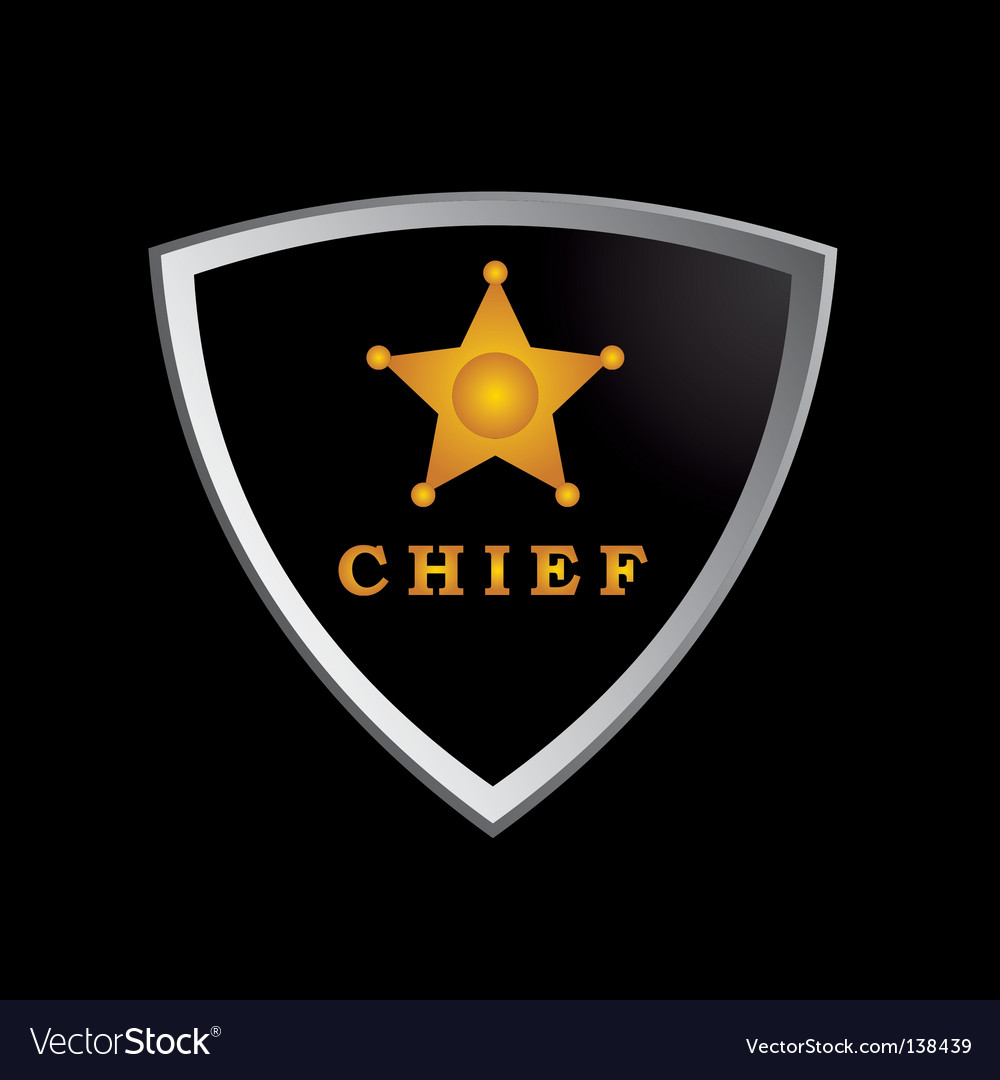 Chief badge vector image
