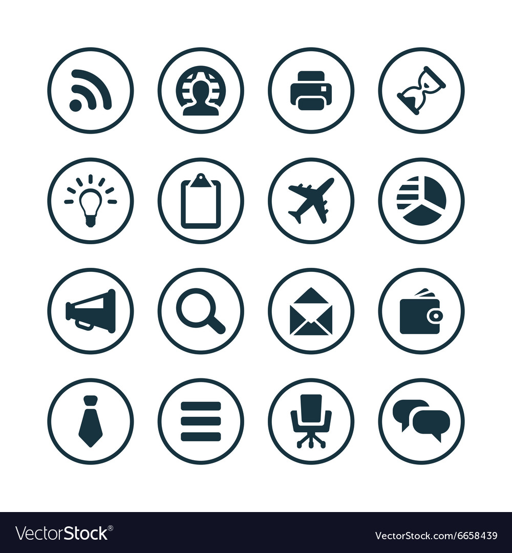 corporate icons universal set royalty free vector image