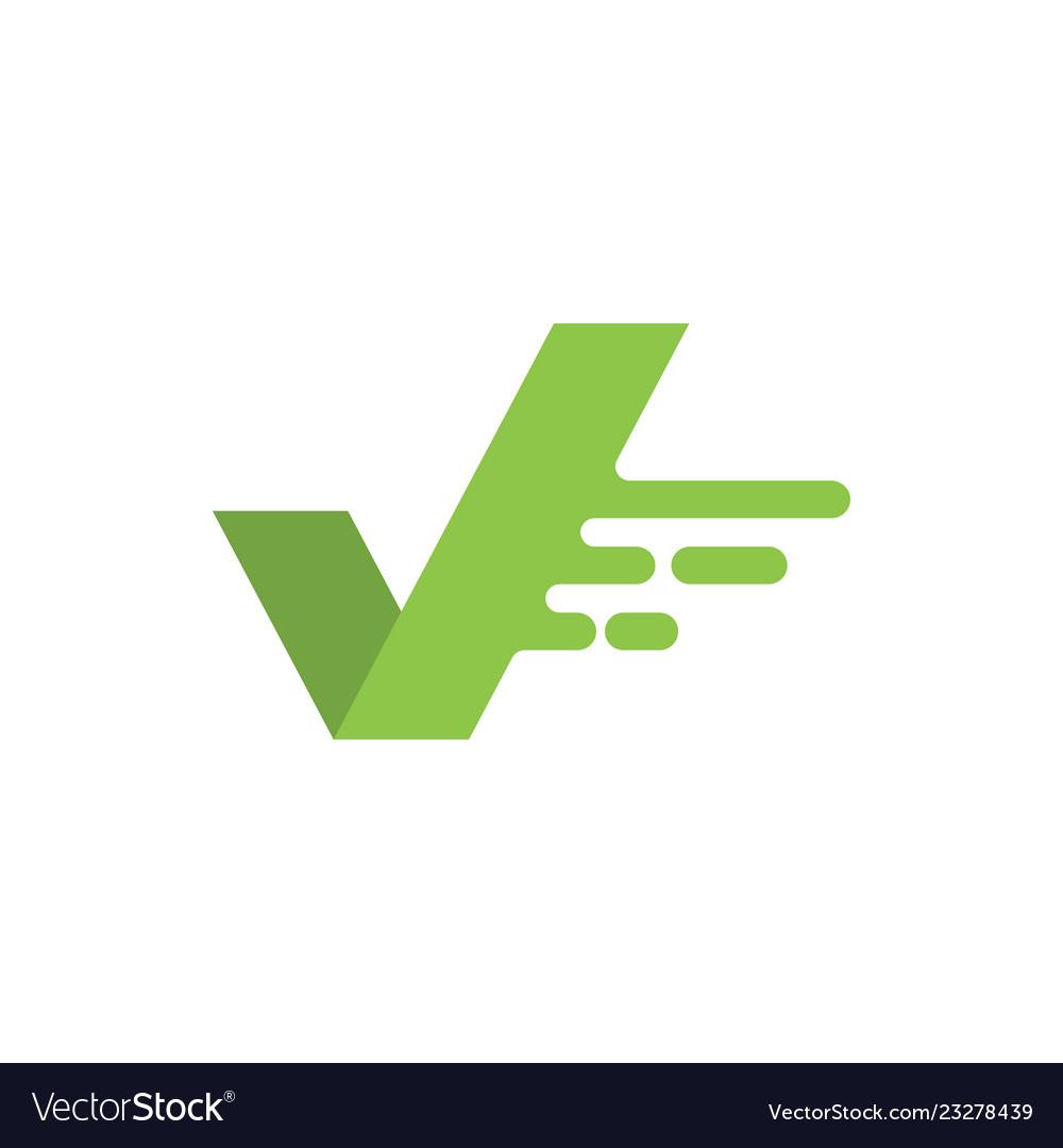 Fast check graphic icon design template