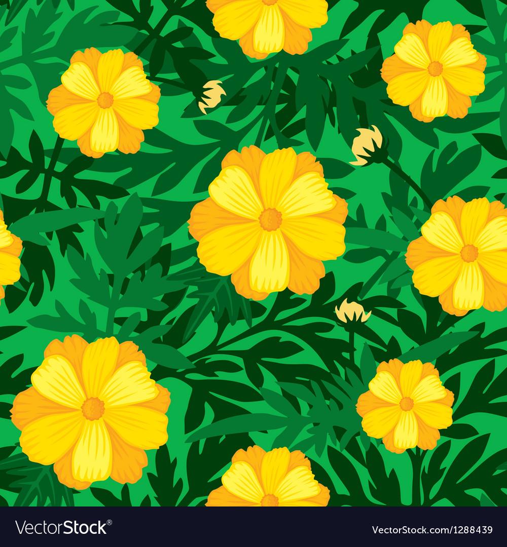 Flower seamless yellow