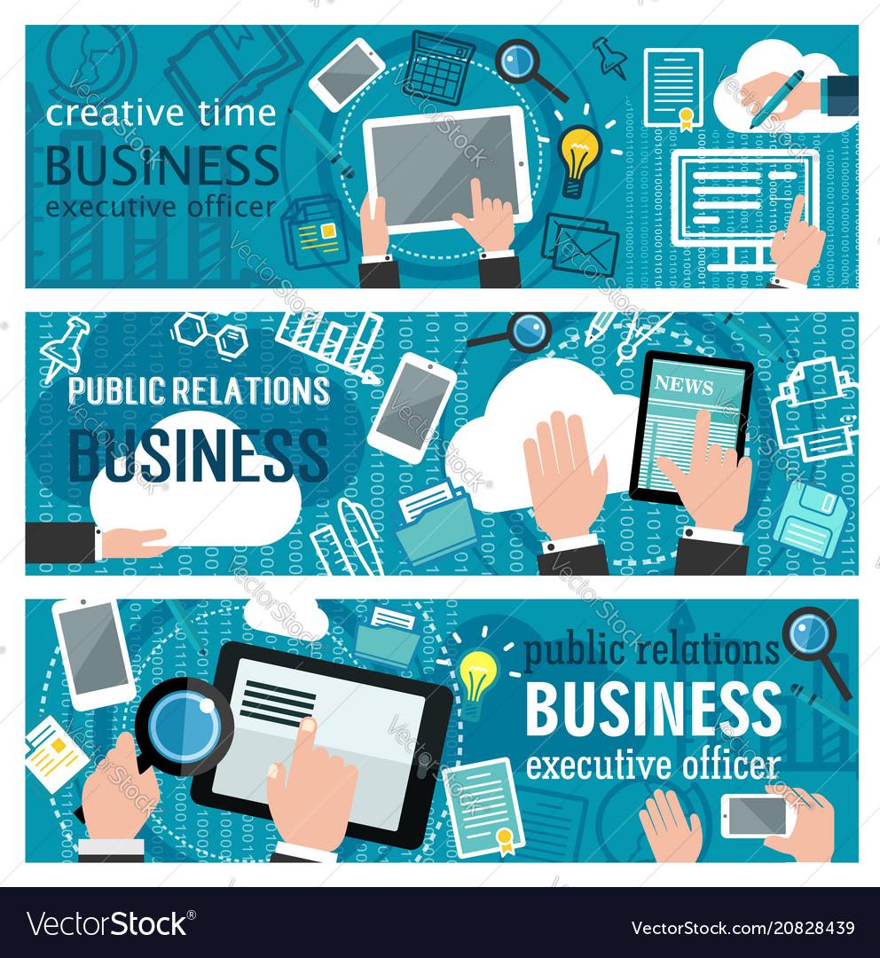 Internet business banner