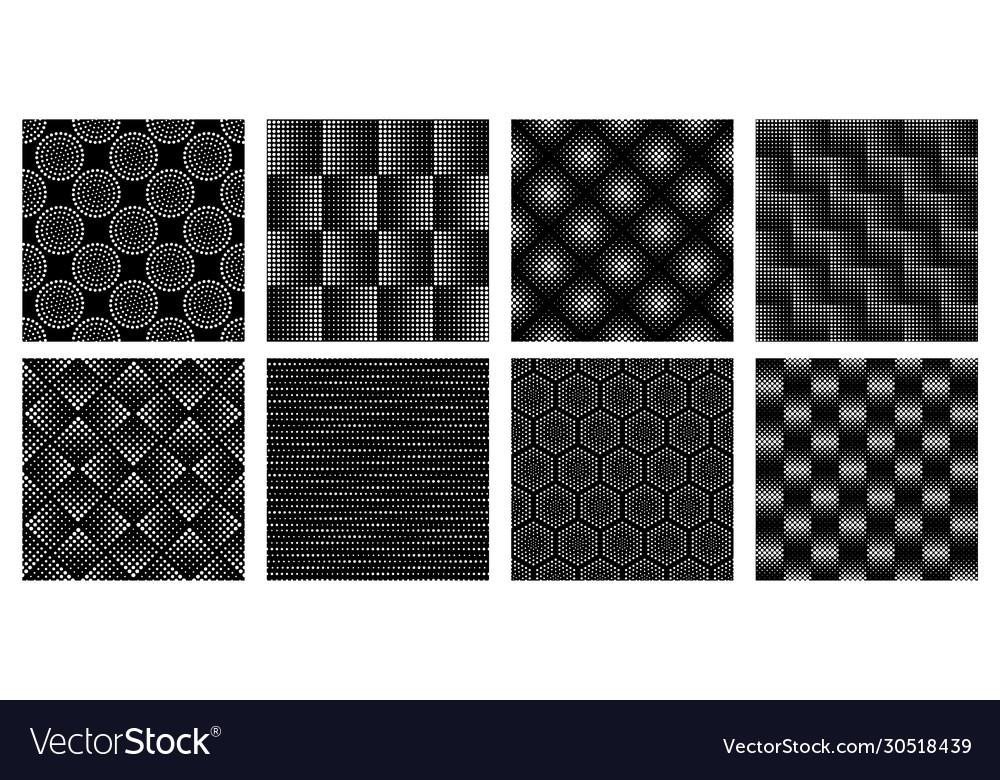 Seamless halftone geometric pattern dotted