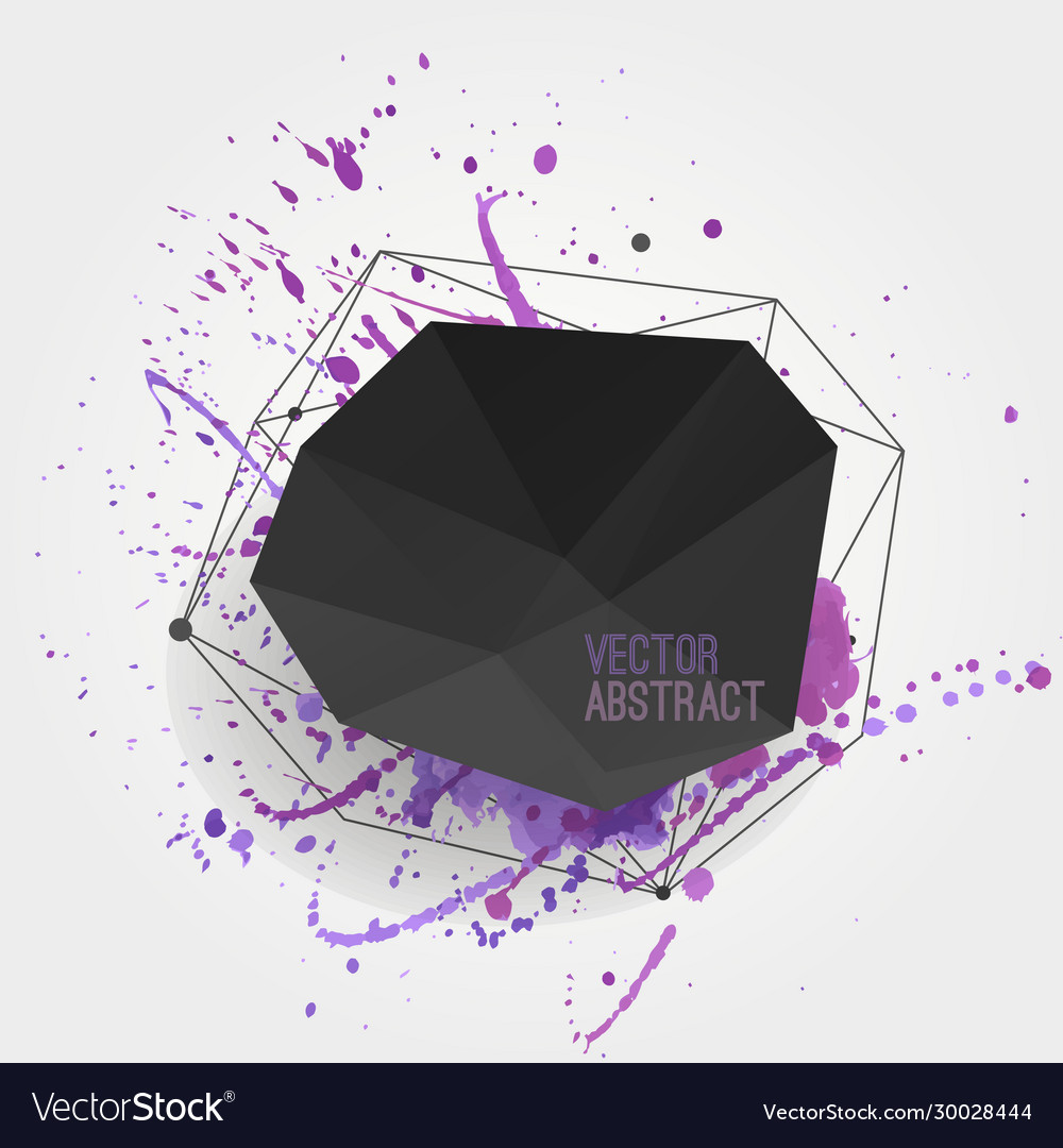 Abstract background with modern black crystal