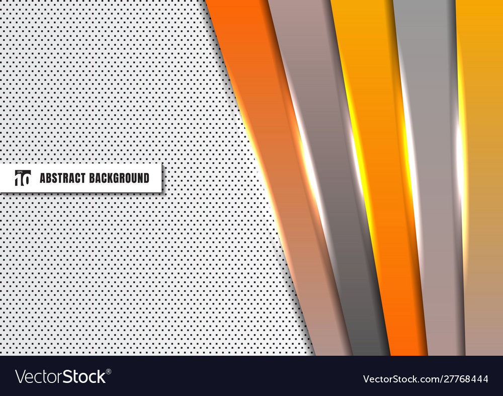 Abstract template orange and gray diagonal