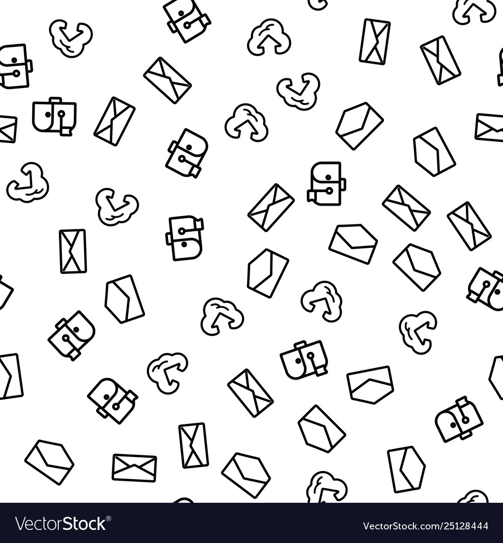 Cloud internet mail solution seamless pattern