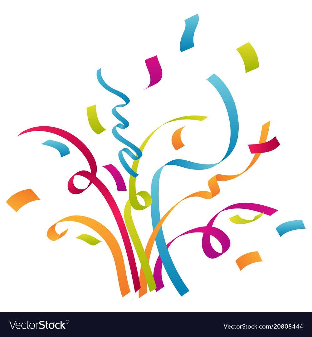 confetti and party background celebrations vector image