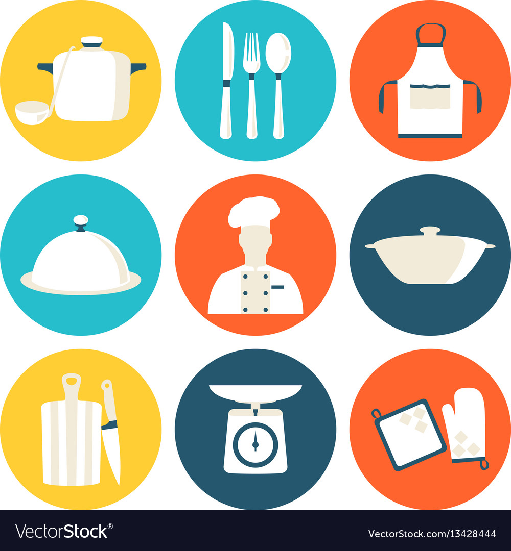 Cook and kitchenware icon