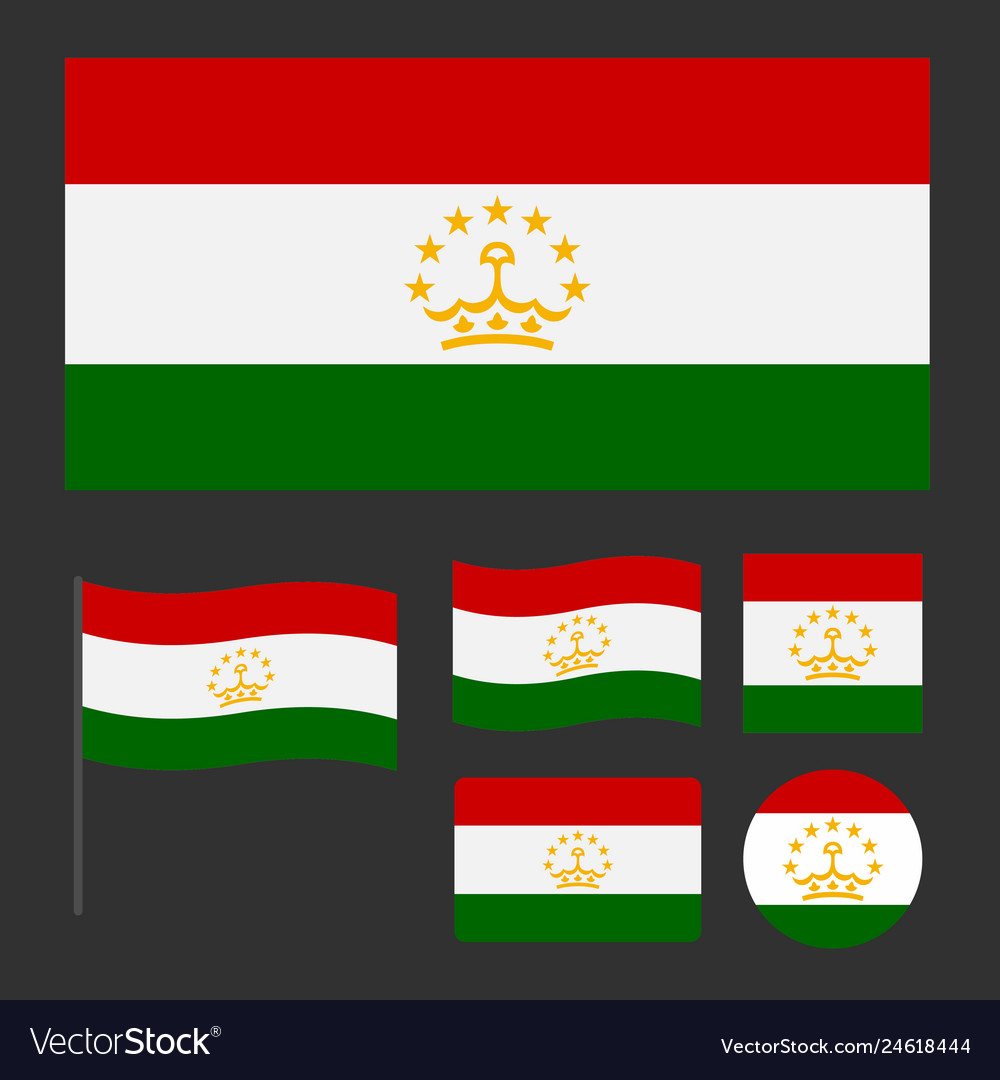Flag of tajikistan with various proportions and