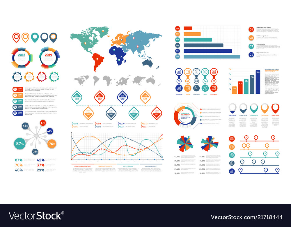 Flat infographic elements presentation chart