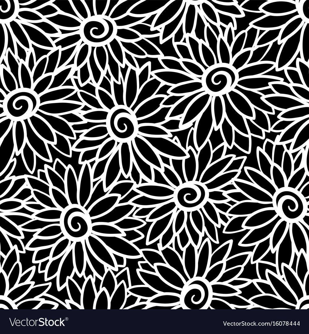 Floral background with stylized blooming