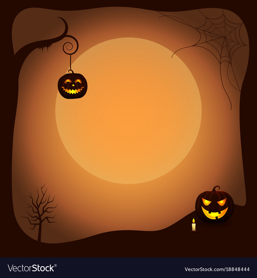 Halloween Poster Background Free.Halloween Poster Background With Luminous Pumpkins