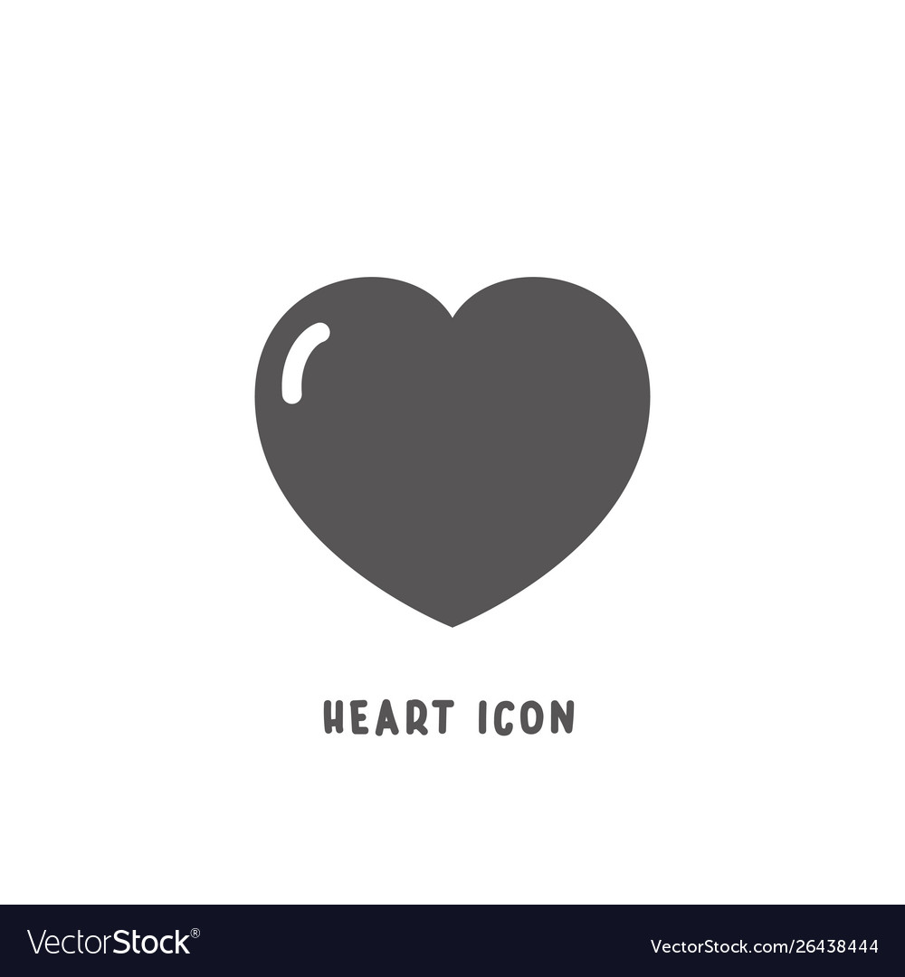 Heart icon simple flat style