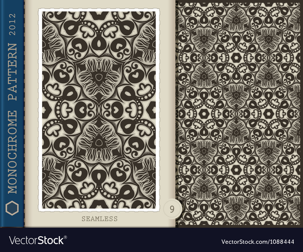 Seamless Pattern Monochrome
