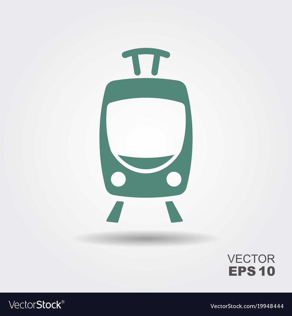 Tram icon flat
