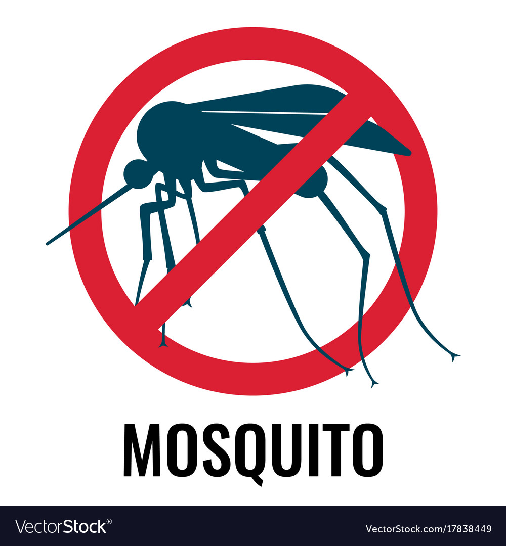 Anti-mosquito label depicting fly in circle