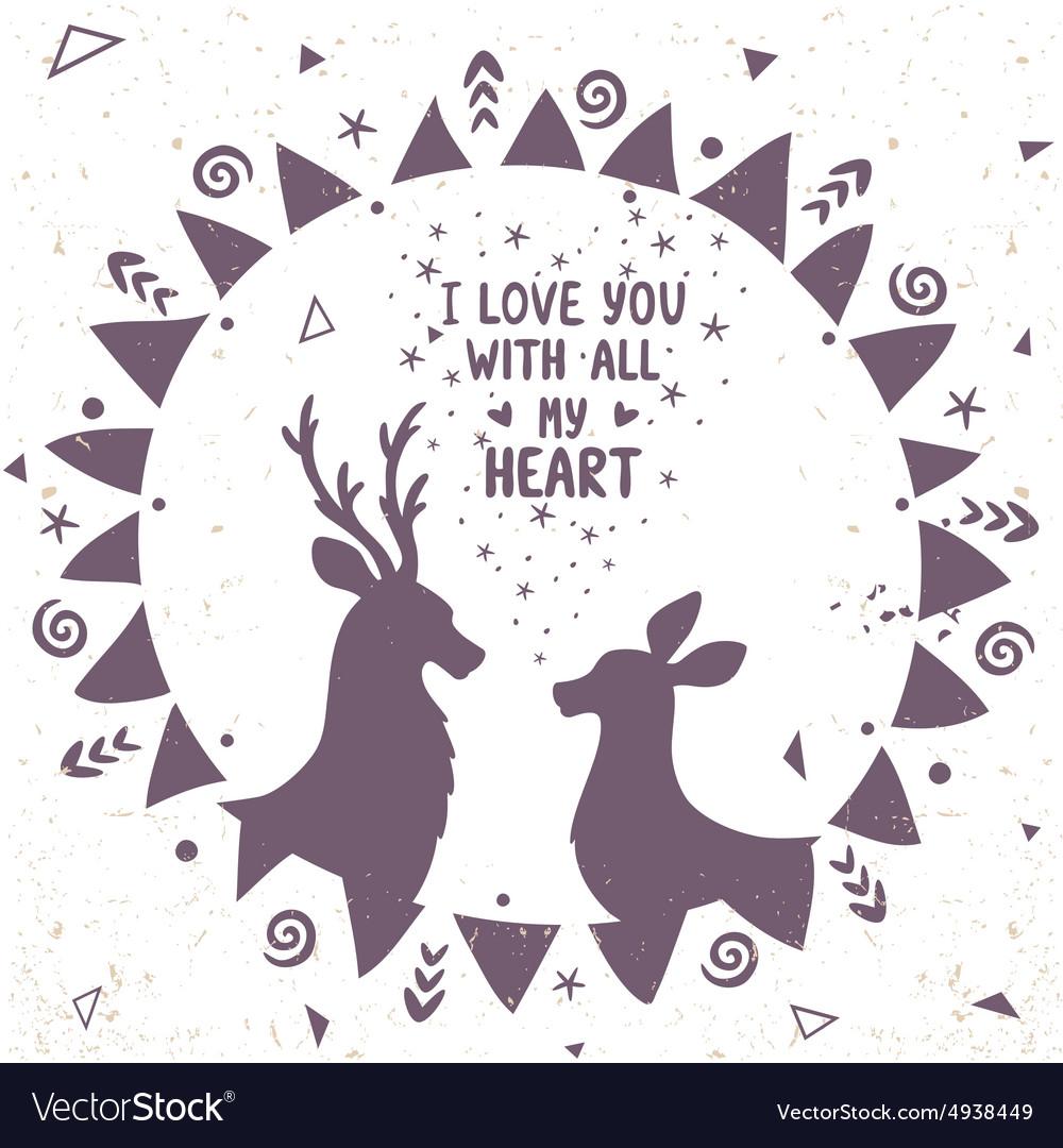 Deer ethno vector image