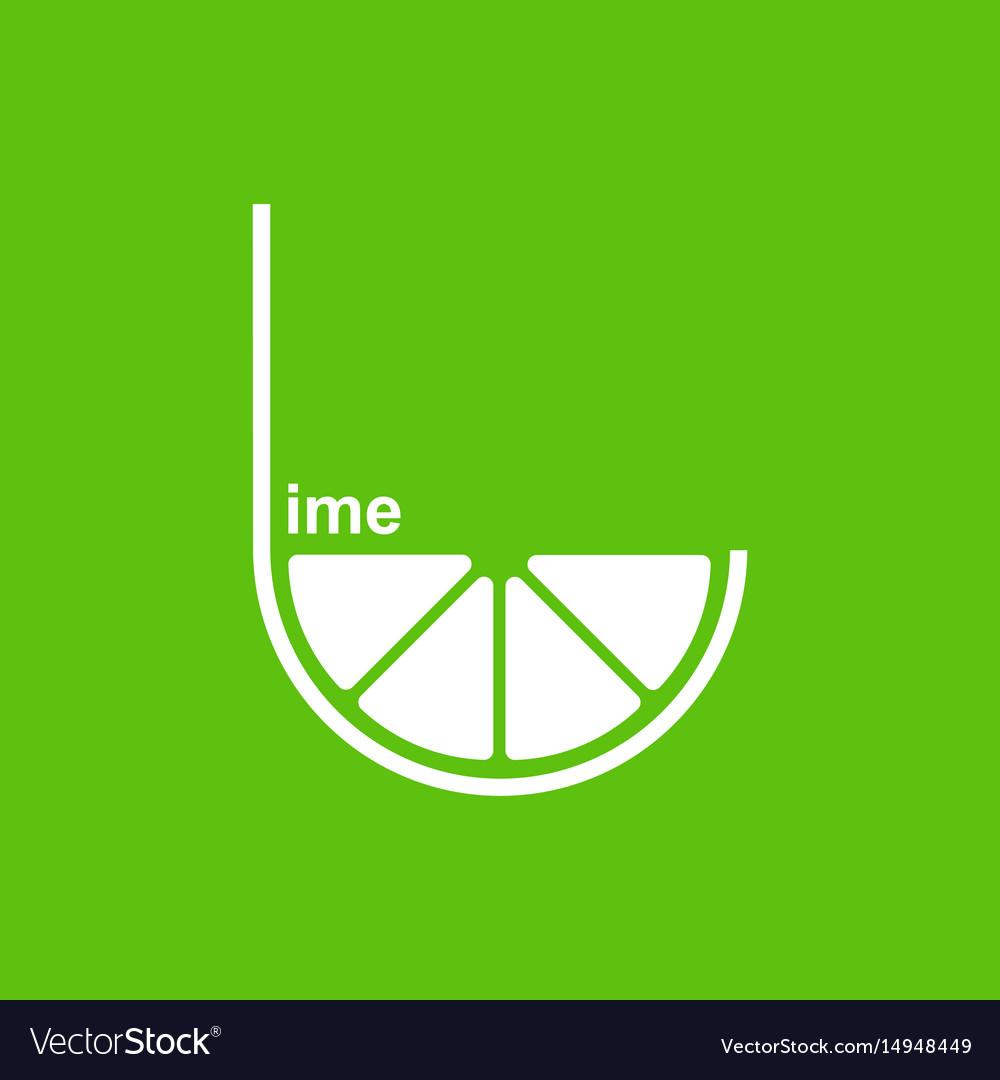 Green lime logo design template