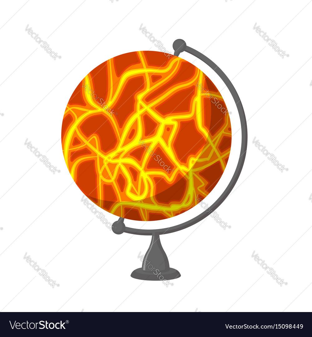 Mars school globe planet geographical sphere vector image