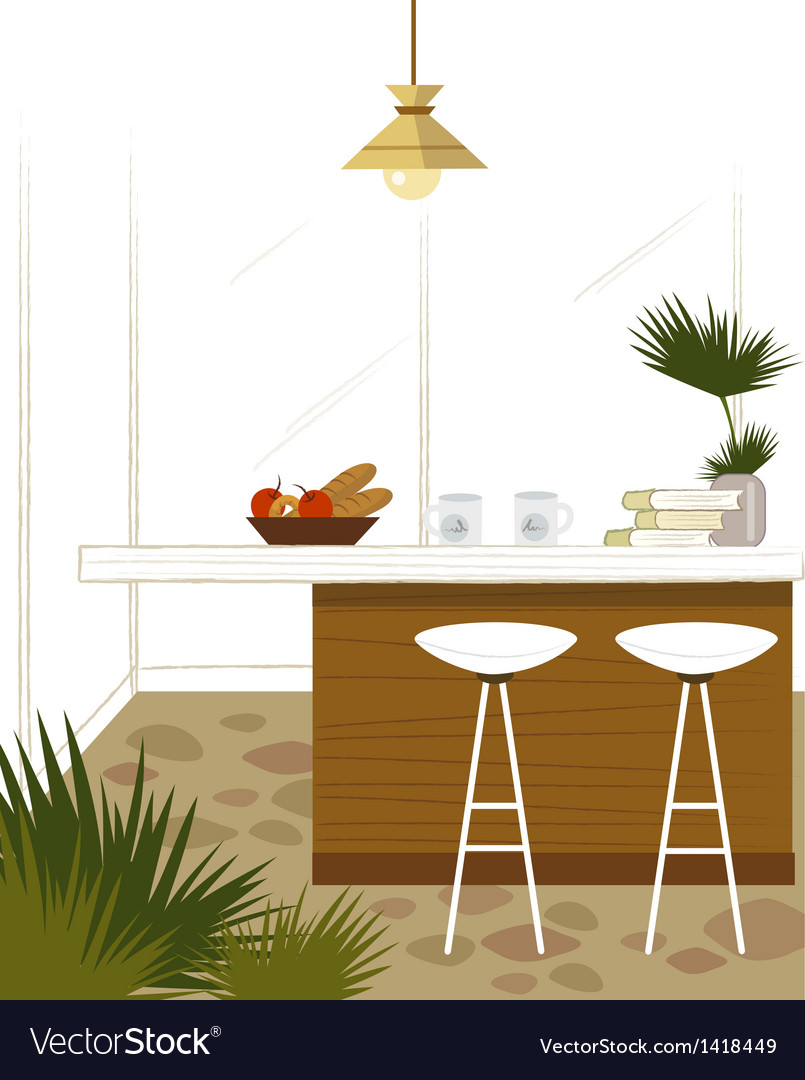 Modern Kitchen Bar vector image