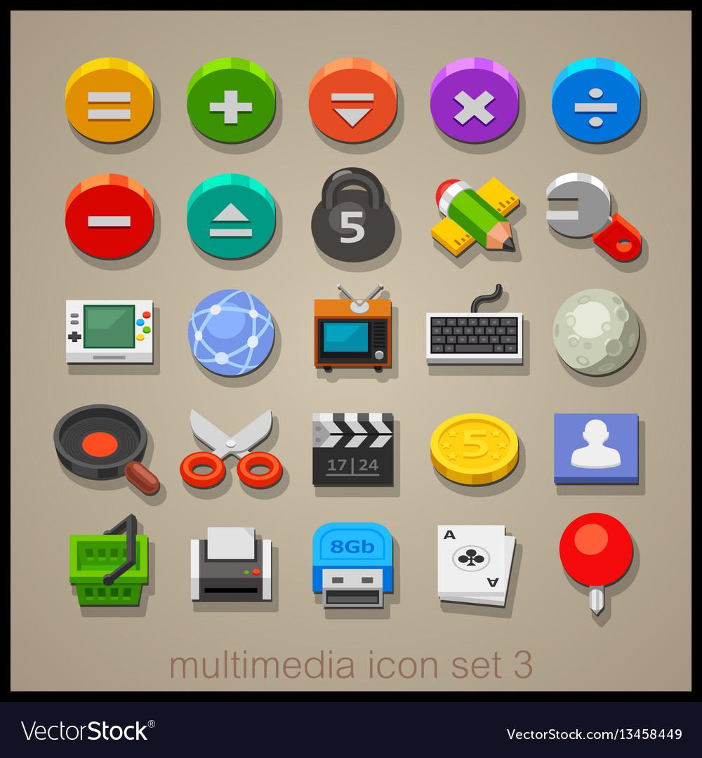 Multimedia icon set-3