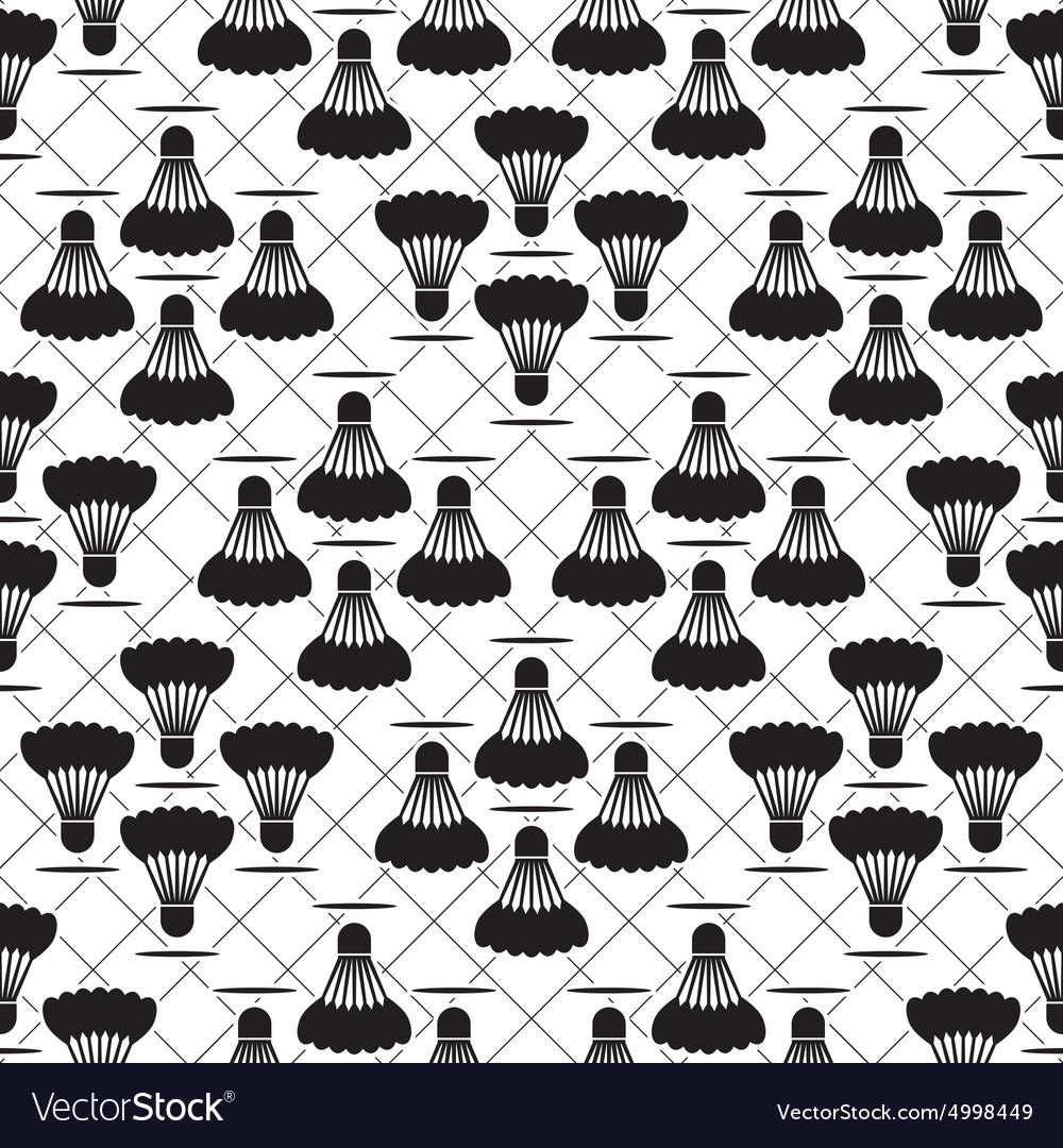 Seamless black design badminton pattern