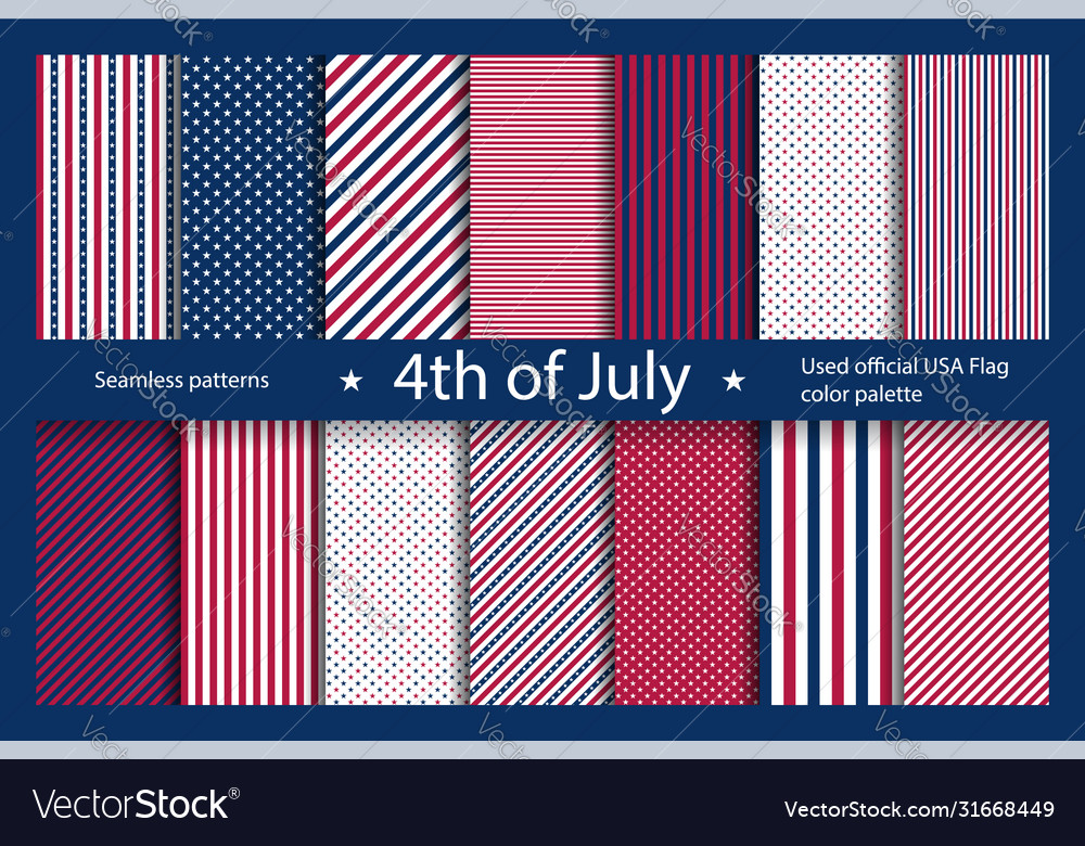 Set usa background with elements american