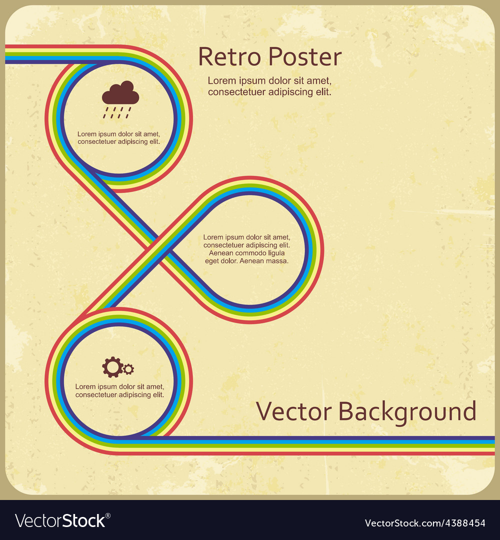Abstract retro lines background vector image