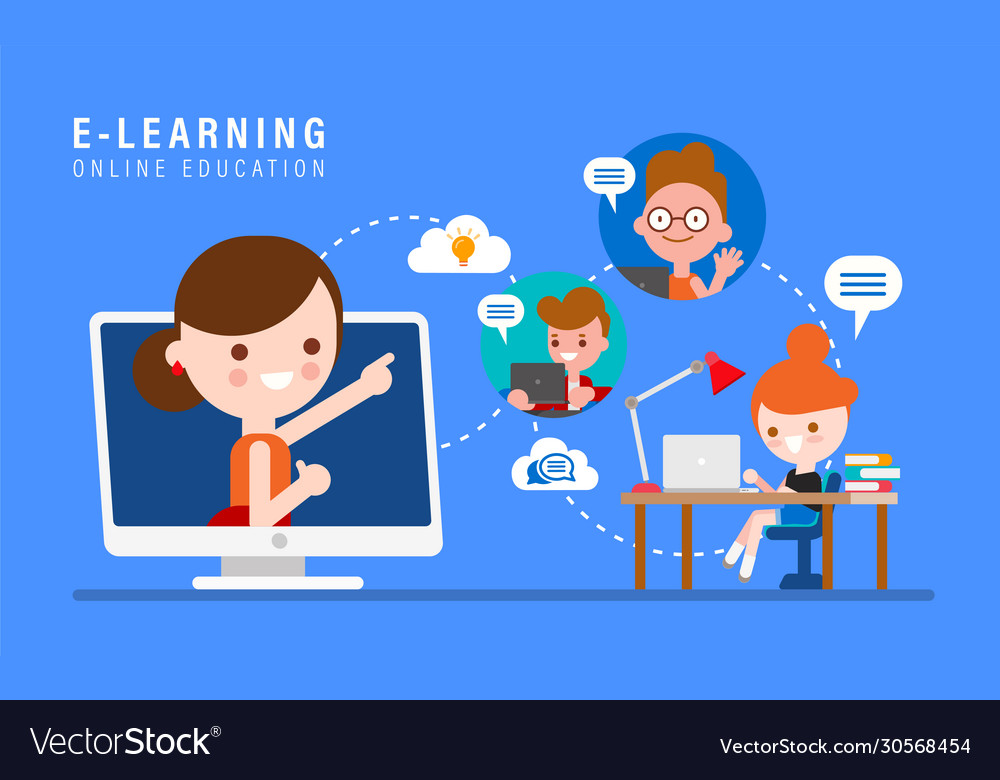 E-learning online education concept online