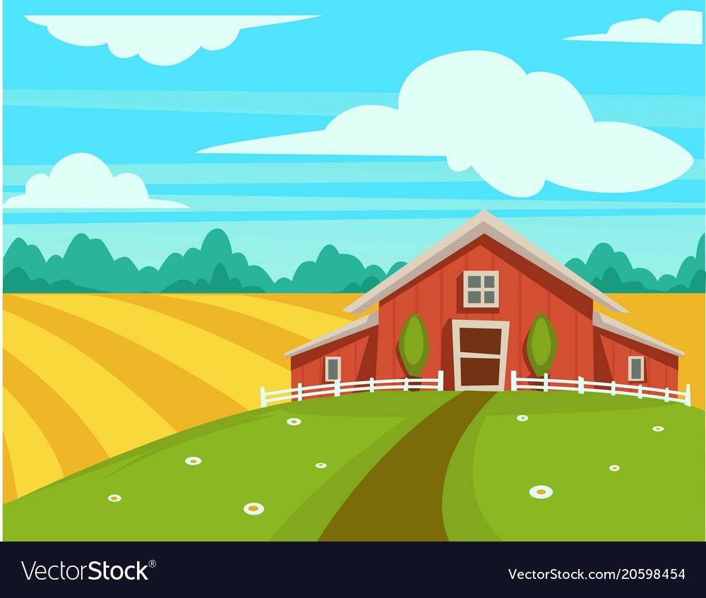 Farm house or farmer household agriculture scenery