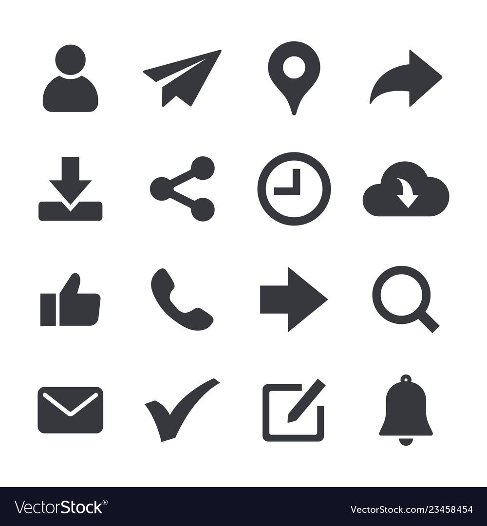 General web icons set