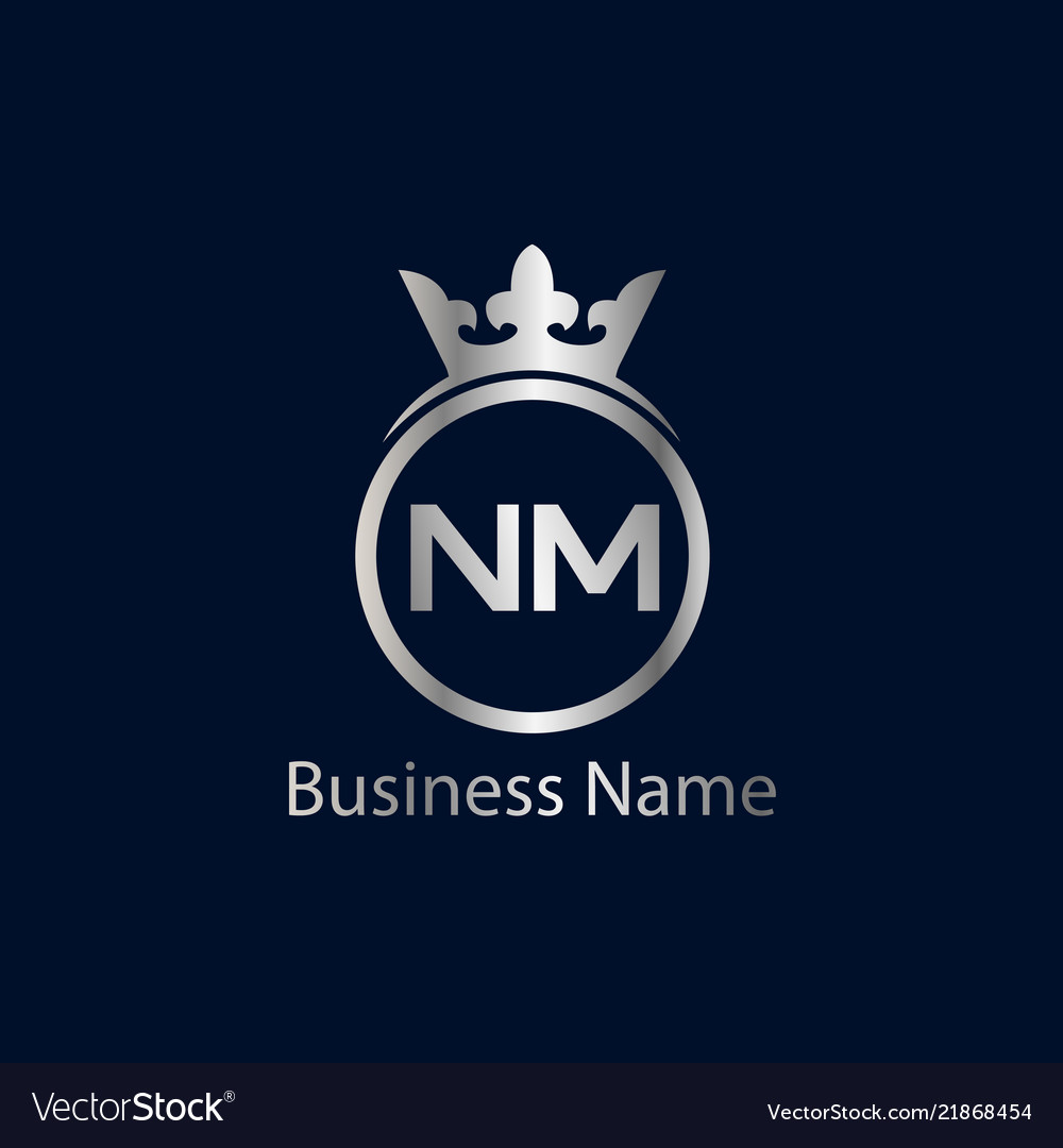 Initial Letter Nm Logo Template Design Royalty Free Vector