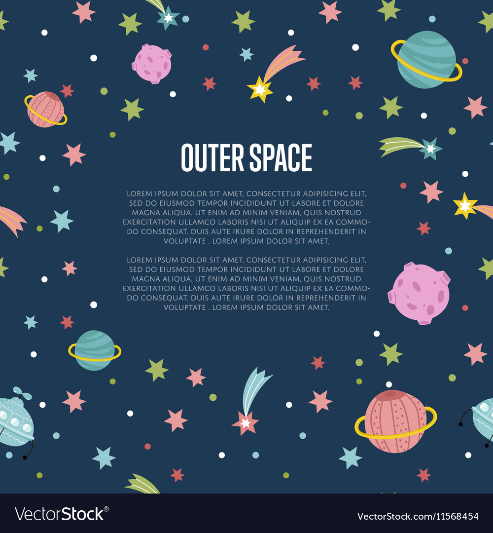 Outer Space Cartoon Web Template