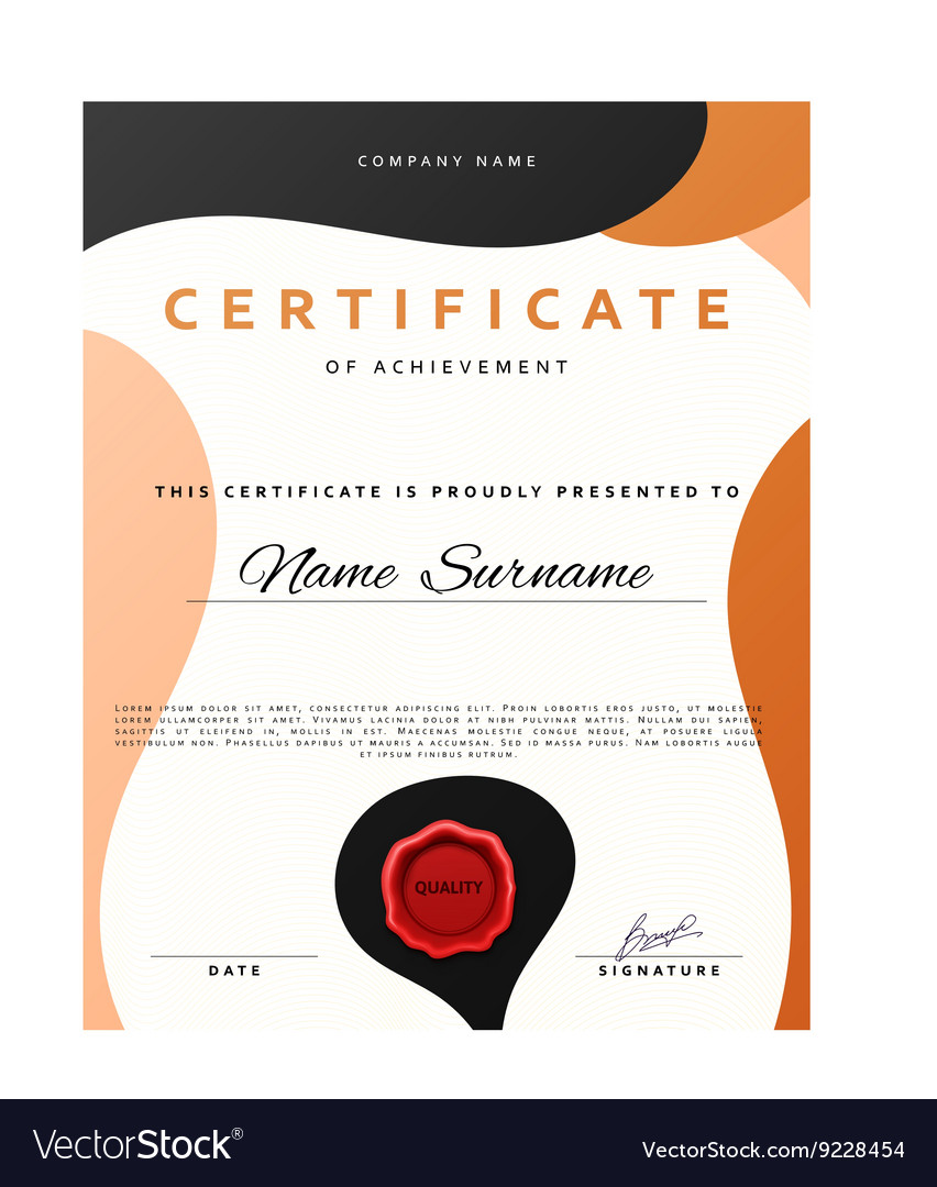Ready Design Certificate For Promotion With Red Vector Image