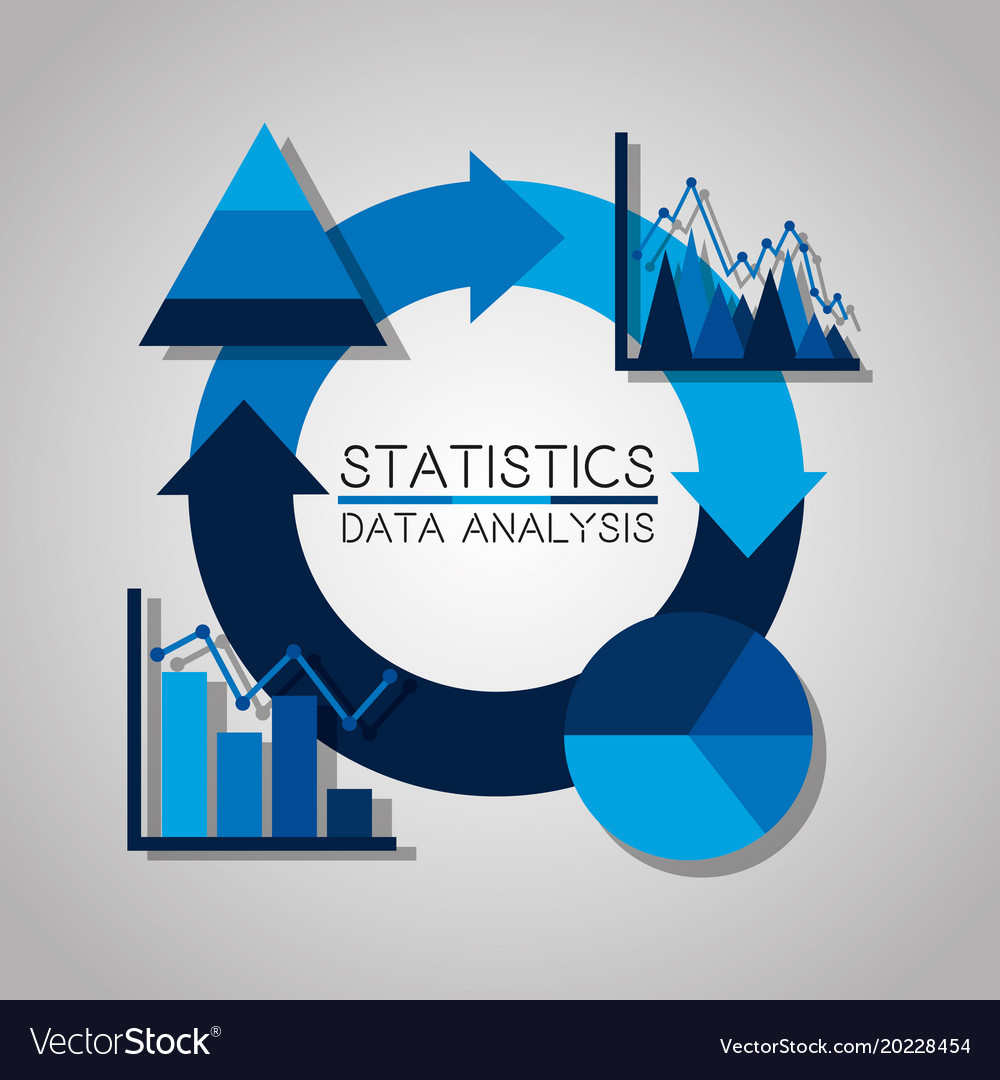 Statistics data analysis business pie chart