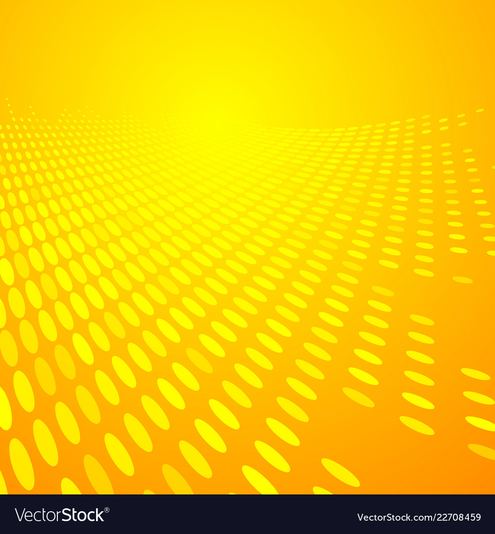 Abstract dots pattern halftone yellow and orange