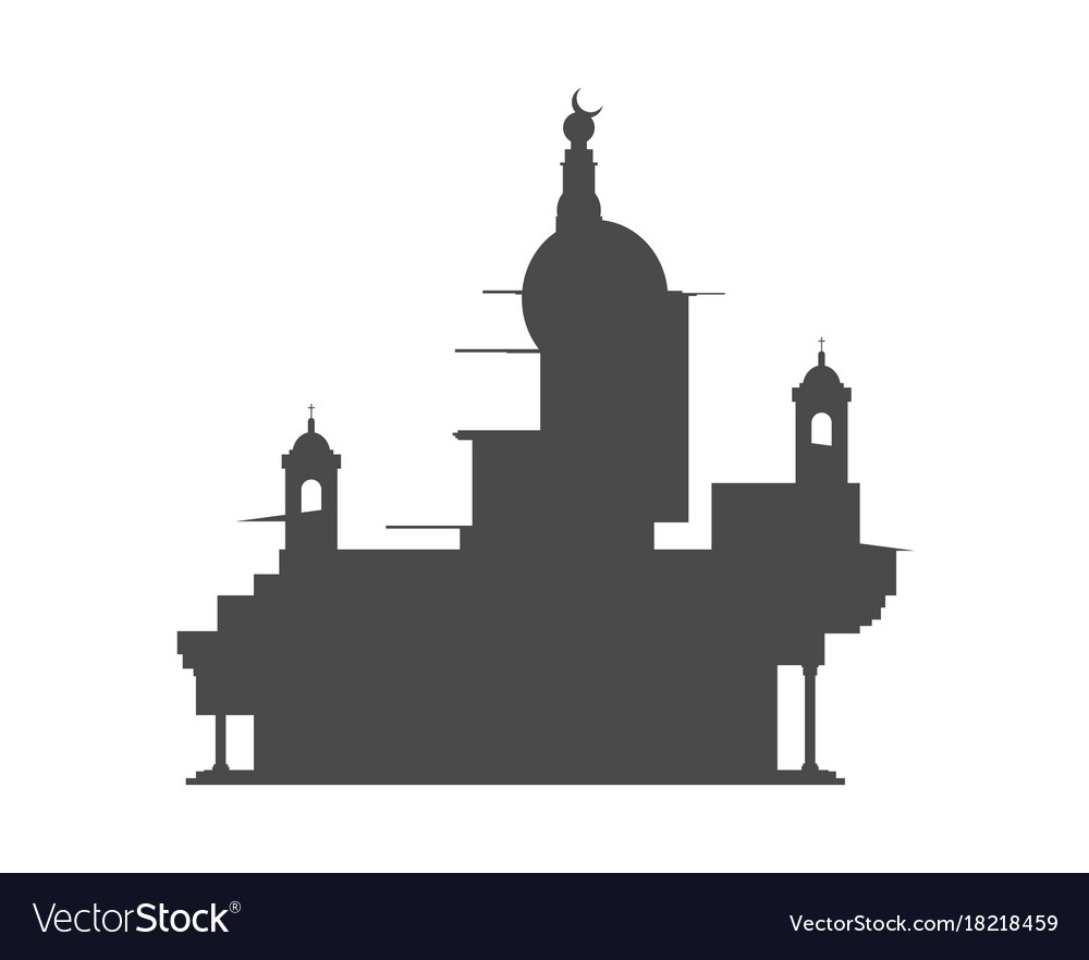 Abstract temple silhouette