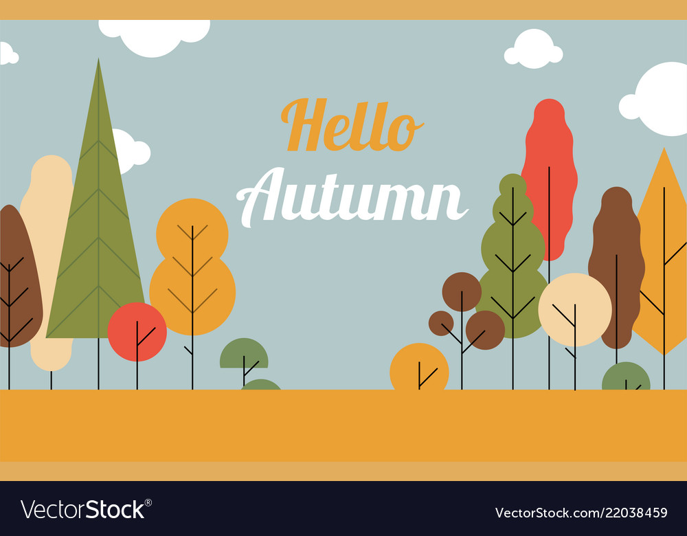 Autumn landscape trees are the seasonssuper sale