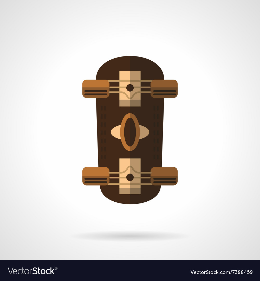 Brown longboard flat color icon