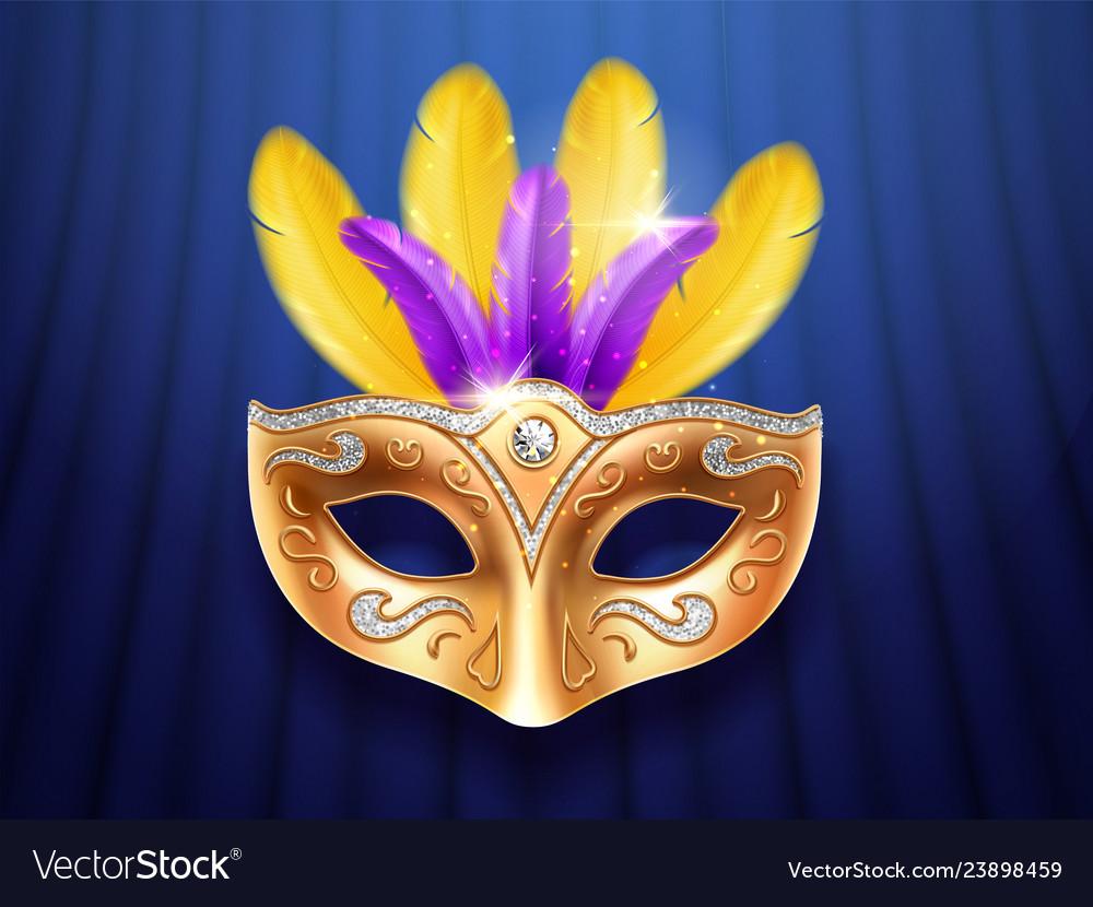 Colorful feather masquerade carnivalfestive mask