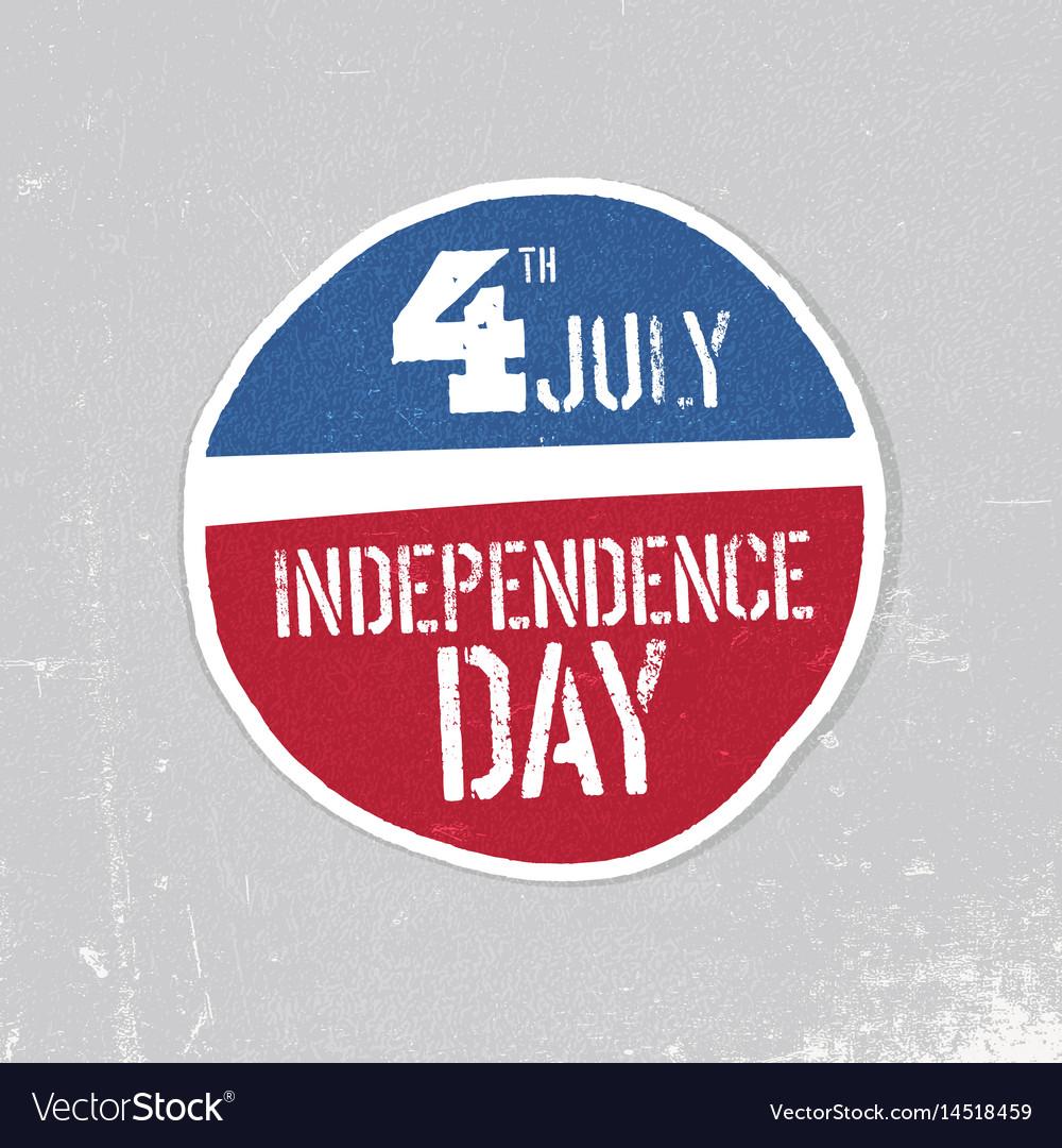 Independence day greeting badge patriotic design