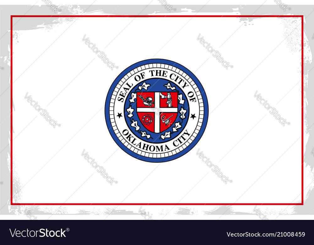 Oklahoma City Flag Royalty Free Vector Image Vectorstock