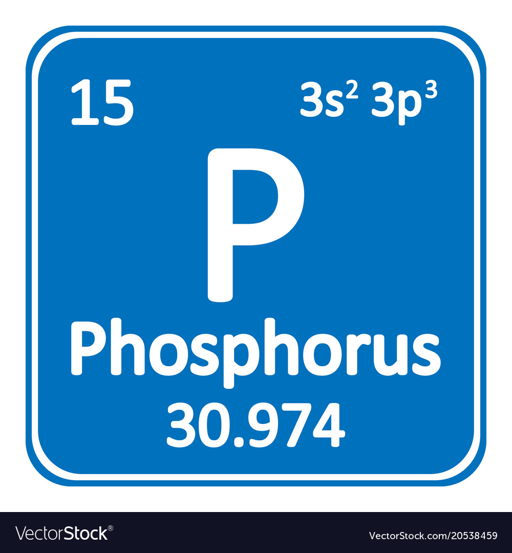 Periodic table element phosphorus icon royalty free vector periodic table element phosphorus icon vector image urtaz Images