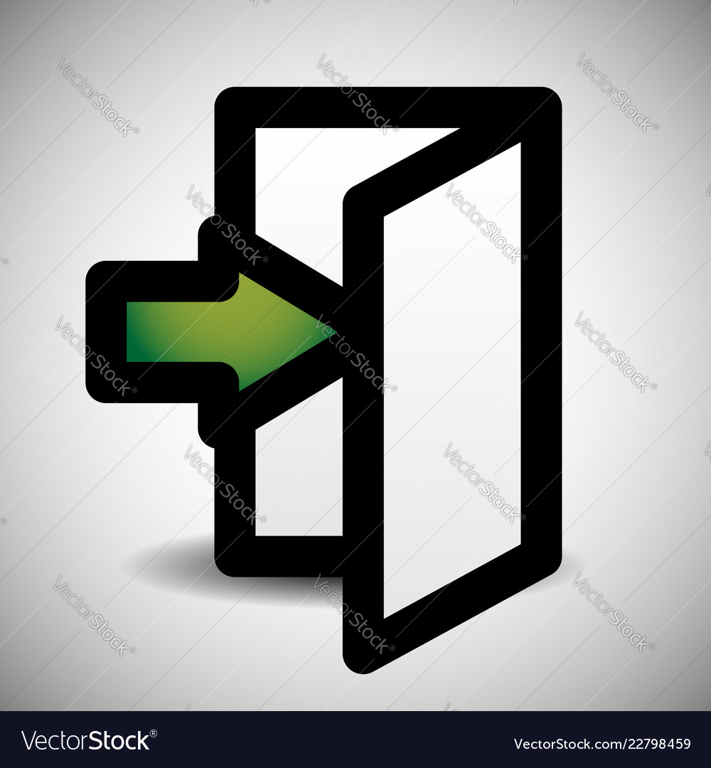 Simple inside or outside door symbol sign with
